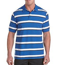 Harbor Bay® Men's Big & Tall Olympian Royal Striped Polo Shirt