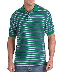 Harbor Bay® Men's Big & Tall Striped Ultra Marine/Navy Polo Shirt