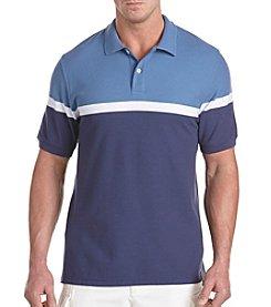 Harbor Bay® Men's Big & Tall Stripe Polo Shirt