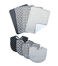 Trend Lab Bouquet Bib and Burp Cloth Set