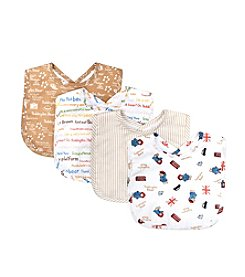 Trend Lab 4-Pack Paddington Bear Bouquet Bib Set