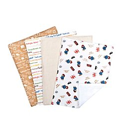 Trend Lab 4-Pack Paddington Bear Bouquet Burp Cloth Set