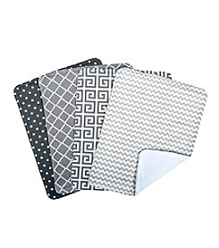 Trend Lab 4-Pack Burp Cloth Set