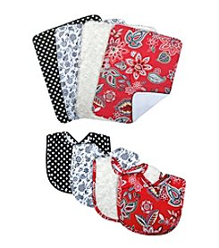 Trend Lab Waverly® 4-Pack Charismatic Bib and Burp Cloth Set