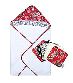 Trend Lab Waverly® Charismatic 5-Pack Wash Cloth Set With Hooded Towel