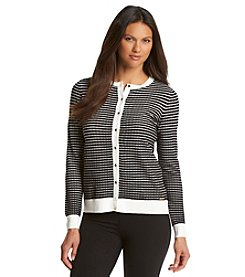 Calvin Klein Striped Rib Trim Cardigan