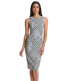 Calvin Klein Zig Zag Midi Dress