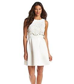 Taylor Dresses Scuba Popover Dress