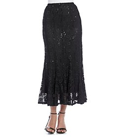 R & M Richards® Sequin Lace Skirt
