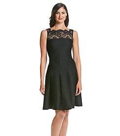 London Times® Lace Dropwaist Dress