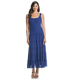 Kasper® Tiered Chiffon Maxi Dress