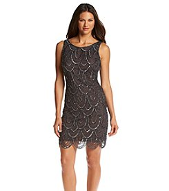 Pisarro Nights Scallop Beaded Shift Dress