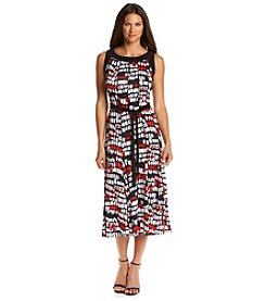 Perceptions Printed Seamed Panel Dress