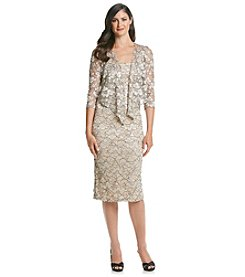 Alex Evenings® Lace Tea Length Dress