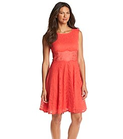 London Times® Lace Overlay Dress