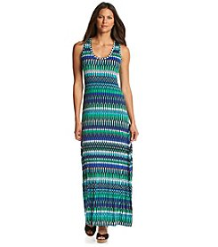 Calvin Klein Abstract Printed Maxi Dress