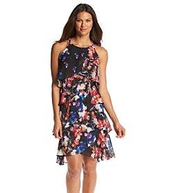 S.L. Fashions Floral Print Dress