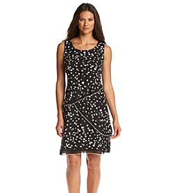S.L. Fashions Polka Dot Tiered Ruffle Dress
