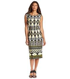 S.L. Fashions Midi Scuba Dress