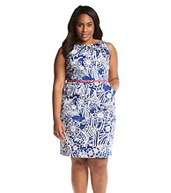 Nine West® Floral Print Pleated Dress