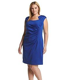 Calvin Klein Plus Size Horseshoe Scuba Dress