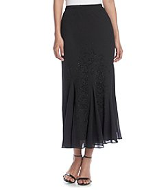 R & M Richards® Caviar Bead Flounce Skirt