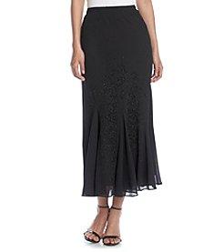 R & M Richards® Caviar Bead Flounce Skirt