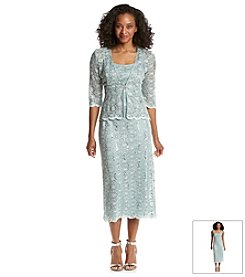 R&M Richards® Petites' Lace Jacket Dress