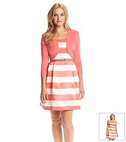 Jessica Howard® Petites' Shantung Cardigan Dress