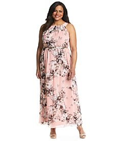 S.L. Fashions Plus Size Floral Maxi Dress