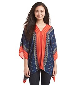 Romeo & Juliet Couture® Handkerchief Printed Tunic Top