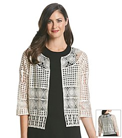 Fever™ Lace Crochet Jacket