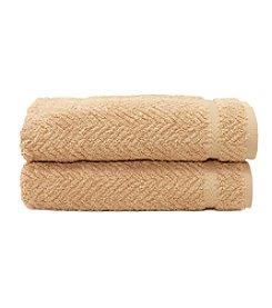 Linum Home Textiles Herringbone 2-pk. Hand Towels