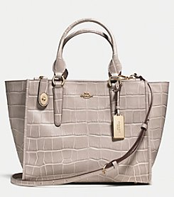 COACH CROSBY CARRYALL IN CROC EMBOSSED LEATHER