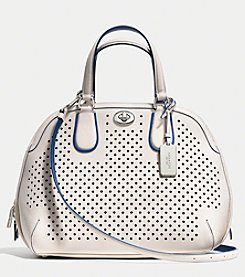 COACH PRINCE STREET SATCHEL IN PERFORATED LEATHER