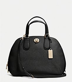 COACH PRINCE STREET SATCHEL IN CROSSGRAIN LEATHER