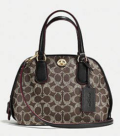 COACH PRINCE STREET MINI SATCHEL IN SIGNATURE CANVAS