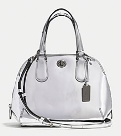 COACH PRINCE STREET MINI SATCHEL IN MIRROR METALLIC LEATHER