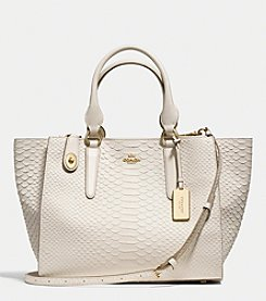 COACH CROSBY CARRYALL IN PYTHON EMBOSSED LEATHER