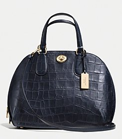 COACH PRINCE STREET SATCHEL IN CROC EMBOSSED LEATHER