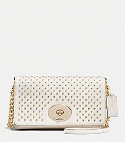 COACH CROSSTOWN CROSSBODY IN STUDDED LEATHER