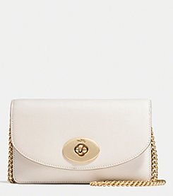 COACH CLUTCH WALLET WITH CHAIN IN SMOOTH LEATHER