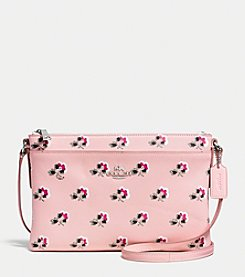 COACH JOURNAL CROSSBODY IN FLORAL PRINT CROSSGRAIN LEATHER