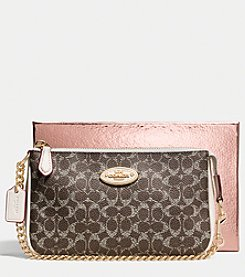 COACH NOLITA WRISTLET 19 IN EMBOSSED SIGNATURE CANVAS