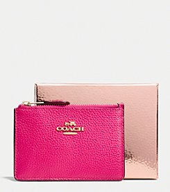 COACH MINI SKINNY IN POLISHED PEBBLE LEATHER