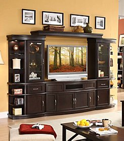 Whalen Furniture Lamar Entertainment Center Collection