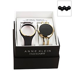 Anne Klein® Fashion Fit Black/Goldtone Watch