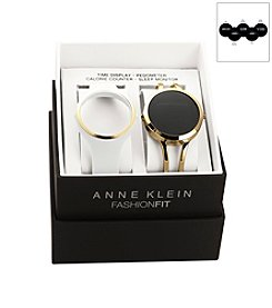 Anne Klein® Fashion Fit White/Goldtone Watch