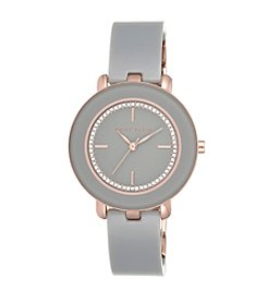 Anne Klein® Grey Bangle Watch with Glitter Dial