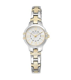 Anne Klein® Two-Tone Link Bracelet Watch